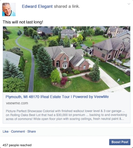 Sharing Real Estate Tours on Social Media