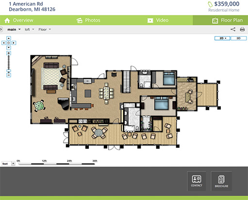 Virtual tour hosting platform for real estate real for Floor plans with virtual tours